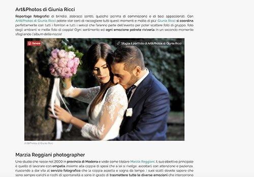 Il fotografo per le nozze: le belle foto sono questione di professionalità